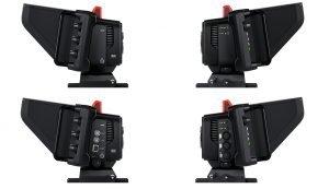 Blackmagic 4K Studio Cameras Side View Comparisons